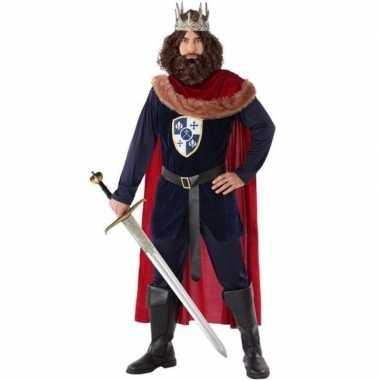 Middeleeuwse koning carnavalskleding voor heren
