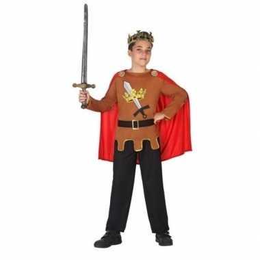 Middeleeuwse ridder/koning arthur carnavalskleding jongens