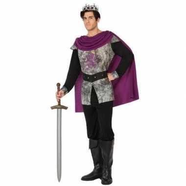 Middeleeuwse ridder/koning carnavalskleding voor heren
