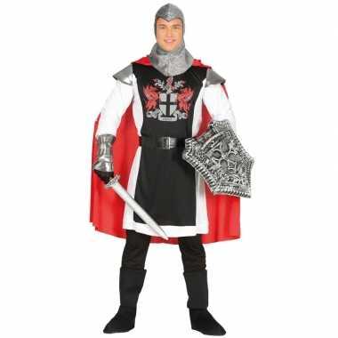 Middeleeuwse ridder met cape carnavalskleding voor heren