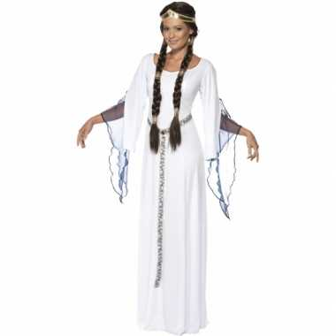 Middeleeuwse witte carnavalskleding voor dames