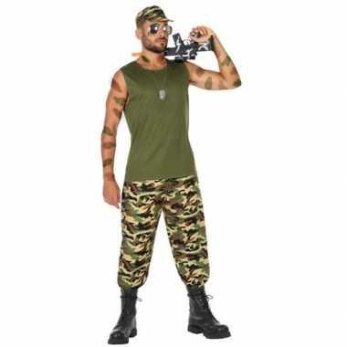 Militair/soldaat pak/carnavalskleding voor heren