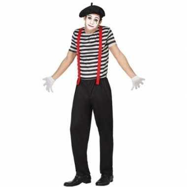 Mime clowns heren carnavalskleding