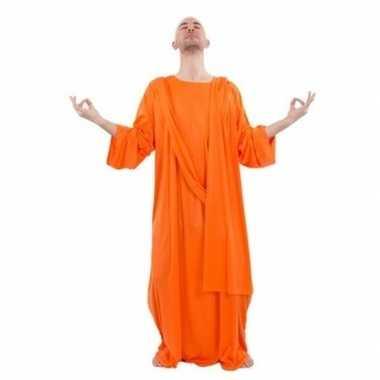 Monnik carnavalskleding oranje voor heren
