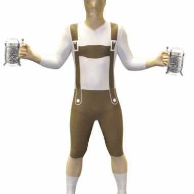 Morphsuit carnavalskleding lederhose