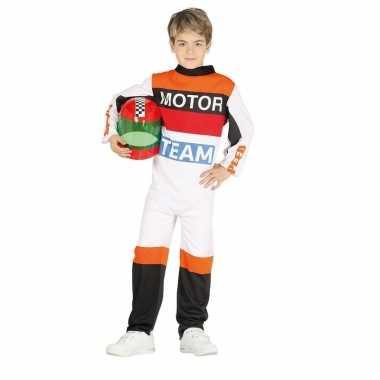 Motorcoureur carnavalskleding voor kinderen