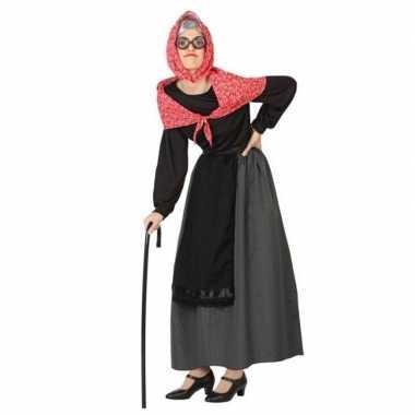 Oma jurk/carnavalskleding voor dames