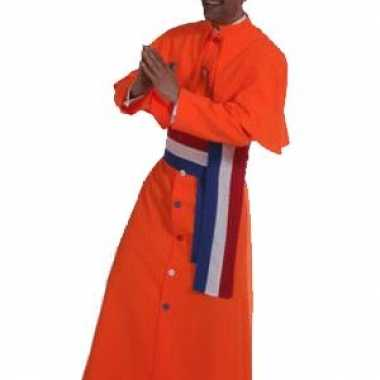Oranje kardinaal carnavalskleding heren
