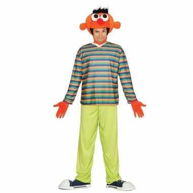 Oranje pop ernie carnavalskleding voor heren