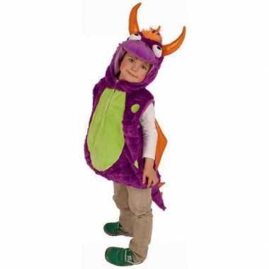 Paarse drakencarnavalskleding voor kinderen