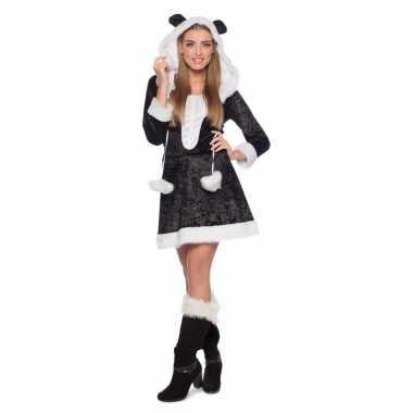 Panda dierencarnavalskleding jurkje voor dames