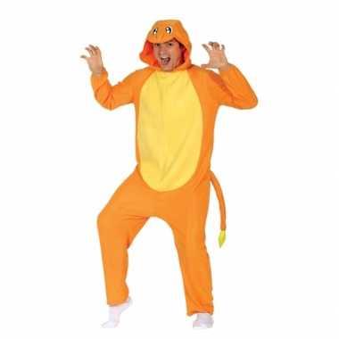 Party oranje cartoon carnavalskleding voor volwassenen