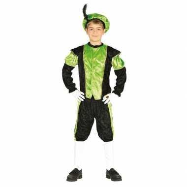 Pieten carnavalskleding zwart/groen voor jongens/meisjes