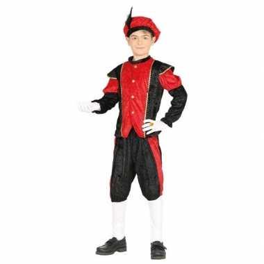 Pieten carnavalskleding zwart/rood voor jongens/meisjes
