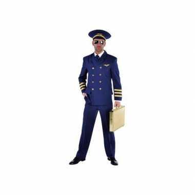 Piloten carnavalskleding heren blauw