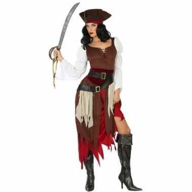Piraat francis pak/carnavalskleding voor dames