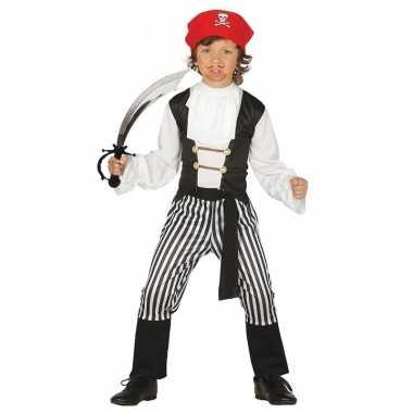 Piraten carnavalskleding maat 128 134 met zwaard voor kinderen