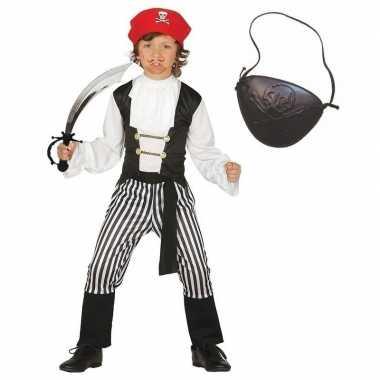 Piraten carnavalskleding maat 128 134 voor kinderen
