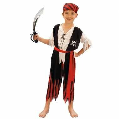 Piraten carnavalskleding maat m met zwaard voor kinderen
