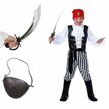 Piraten carnavalskleding maat m voor kids