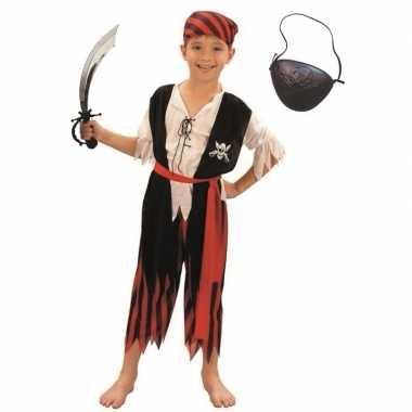 Piraten carnavalskleding maat m voor kinderen