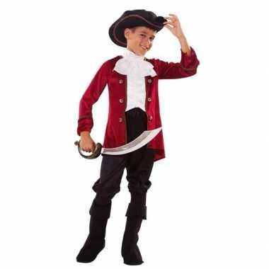 Piraten carnavalskleding rood/zwart voor jongens