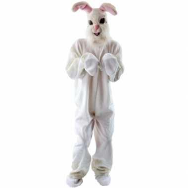 Pluche konijn carnavalskleding voor volwassenen