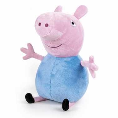 Pluche peppa pig/big knuffel in blauwe carnavalskleding 31 cm speelgo