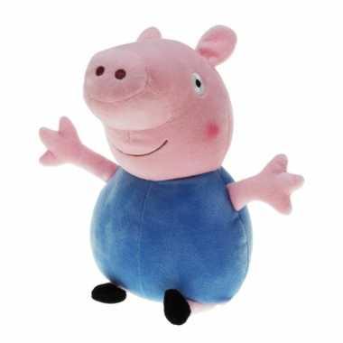 Pluche peppa pig/big knuffel met blauwe carnavalskleding 28 cm speelg