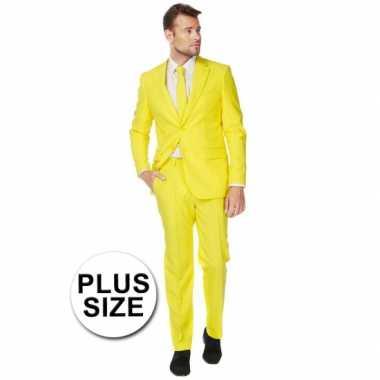 Plus size heren carnavalskleding geel