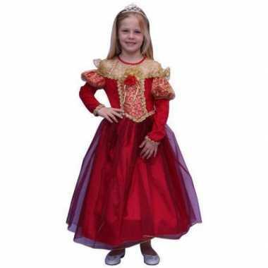 Prinsessen carnavalskleding voor meisjes in de kleur rood