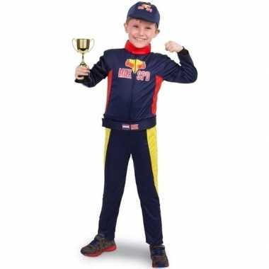 Race/formule 1 carnavalskleding met beker voor jongens
