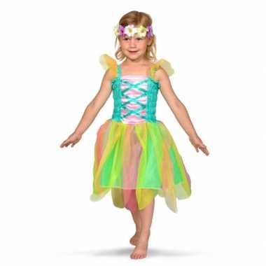 Regenboog fee carnavalskleding voor meisjes