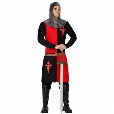 Ridder carnavalskleding zwart/rood voor heren