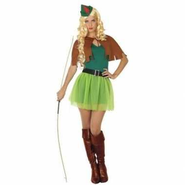 Robin hood carnavalskleding 4 delig voor dames