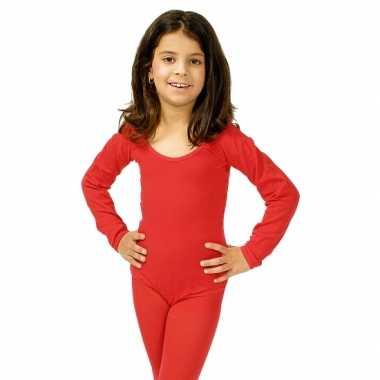 Rode kinder ballet carnavalskleding