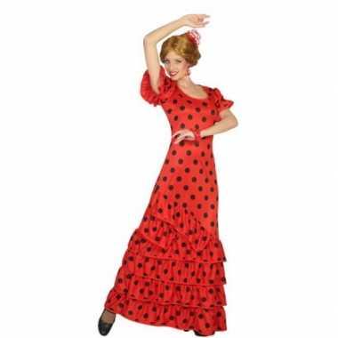 Rode spaanse carnavalskleding jurk