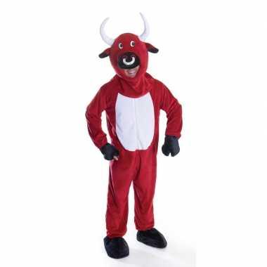 Rode stier carnavalskleding voor volwassenen