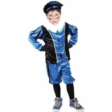 Roetveeg pieten carnavalskleding blauw/zwart voor kinderen
