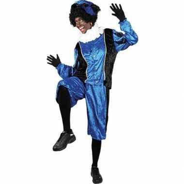 Roetveeg pieten carnavalskleding blauw/zwart voor volwassenen
