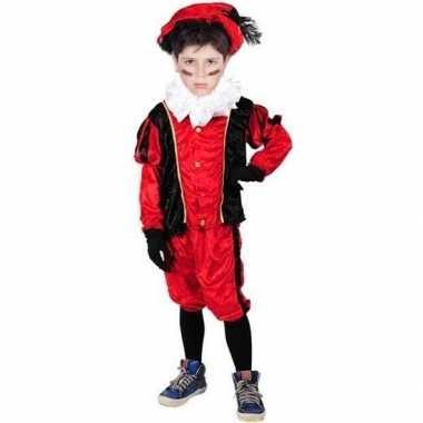 Roetveeg pieten carnavalskleding rood/zwart voor kinderen