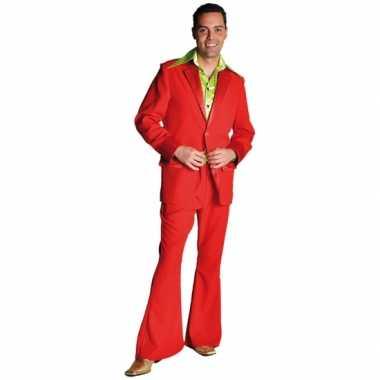 Rood jaren 70 carnavalskleding voor heren