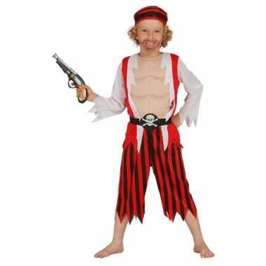 Rood piraten carnavalskleding voor kinderen