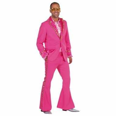 Roze glitter carnavalskleding heren