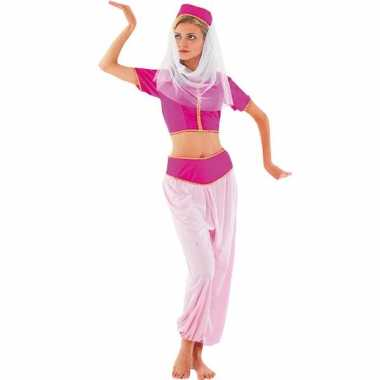 Roze harem prinses carnavalskleding