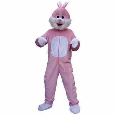 Roze konijnen carnavalskleding
