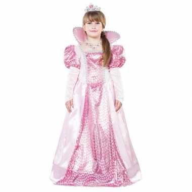 Roze koningin carnavalskleding voor meisjes