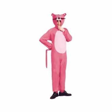 Roze panter carnavalskleding voor volwassenen