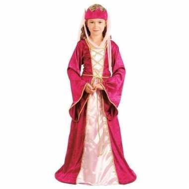 Roze prinsessen carnavalskleding voor meisjes