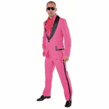 Roze smoking carnavalskleding voor heren